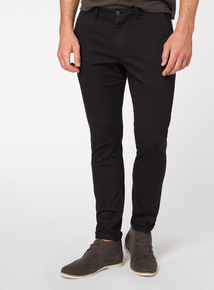 Black Slim Fit Chinos With Stretch