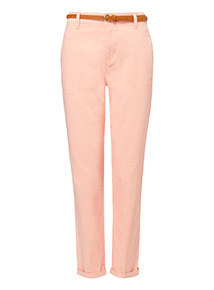 Pink Belted Chinos
