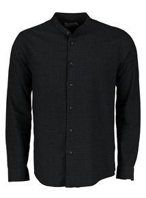 Black Regular Fit Check Shirt