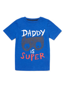 Blue Daddy Is Super T-Shirt (9 months-6 years)