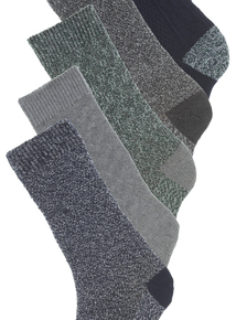 Multicoloured Cotton Rich Ribbed Socks 5 Pack