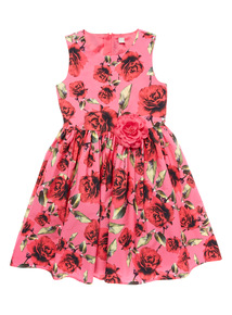 Girls Pink Floral Dress (3 - 12 years)
