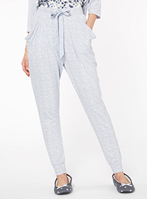 Light Blue Supersoft Snit Hareem Trousers