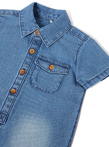 Denim Romper (0-24 months)