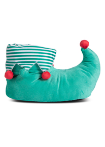 Christmas Green Elf Slipper Boots