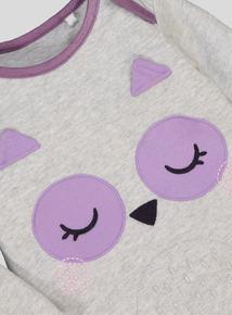 Grey & Pink Owl Pyjamas (0-24 Months)