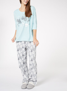 Christmas Tree Print Pyjamas