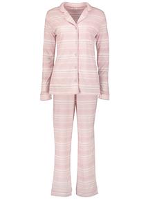 Pale Pink Heart Print Traditional Pyjamas