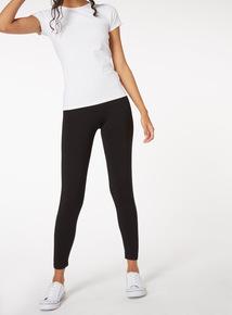 PETITE Online Exclusive Black Cotton Modal Leggings