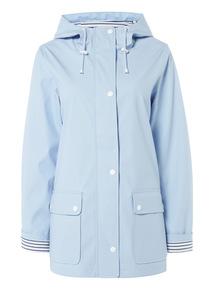 Light Blue Rubber Coated Raincoat