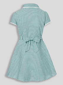 Green Classic Gingham Dress (3-12 years)