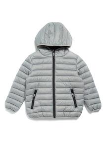Grey Puffer Coat (3-14 years)