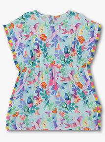 92373b9298f Multicoloured Tropical Bird Print Kaftan (3 - 12 Years)