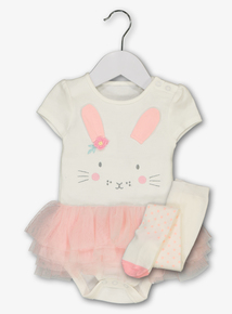 324d79a65f25 Pink Bunny Tutu Bodysuit With Tights (0 - 24 months)