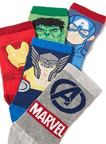 5 pack Multicoloured Avengers Trainer Socks