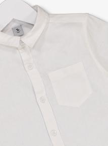 White Short Sleeve Shirt (3-14 years)
