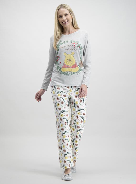 Cute Womens Christmas Pajamas.Sku Winnie Pj Set Grey