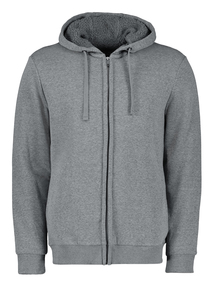 Grey Borg Fleece Lined Hoodie
