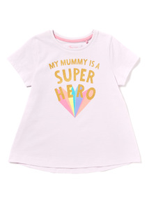 Purple Glitter Mummy T-shirt (9 months-6 years)