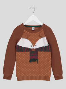 Brown Fox Knit Jumper (9 Months - 6 Years)