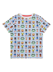 Multicoloured Superhero Dog Print T-Shirt (9 months-6 years)