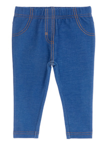 Blue Denim Jeggings (0 - 24 months)