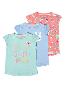 3 Pack Multicoloured T-Shirts (0-24 months)