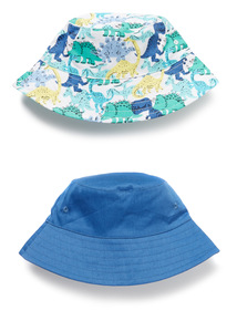 2 Pack Multicoloured Dinosaur Bucket Hats