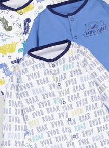 Multicoloured Dinosaur Sleepsuits 3 Pack (Newborn-24 Months)
