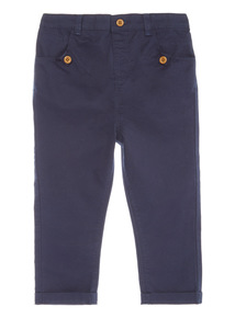 Blue Twill Trousers (1 - 24 months)