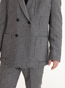 GFW Monochrome Dogtooth Double Breasted Jacket