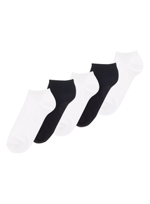 White Trainer Socks 5 Pack