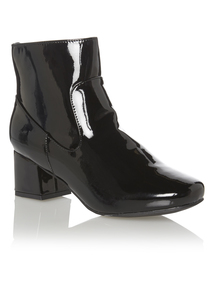 Black Patent 60's Boots
