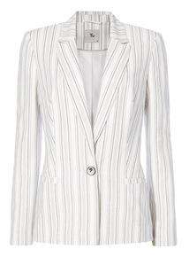 Multicoloured Stripe Linen Jacket