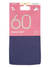 3 Pack 60 Dernier Opaque Tights