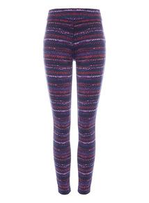 Multicoloured Active Space Dye Legging