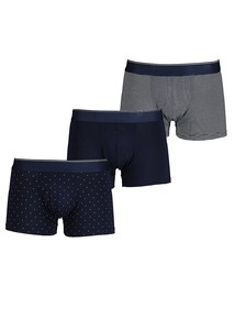 Navy Hipster Briefs 3 Pack