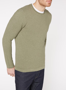 Sage Green Basket Weave Jumper