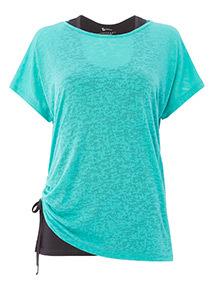 Teal Strap Back T-Shirt