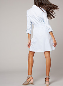 Premium Pinstripe Shirt Dress