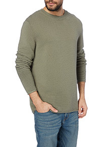 Green Ribbed Jumper