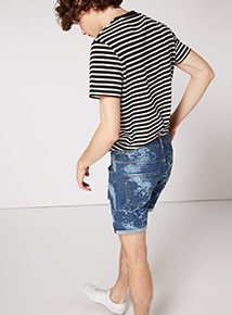 GFW Denim Bleached Wash Shorts