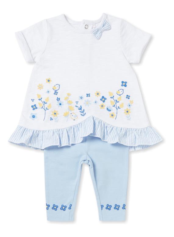 Multicoloured T-shirt and Leggings Set (0-24 months)