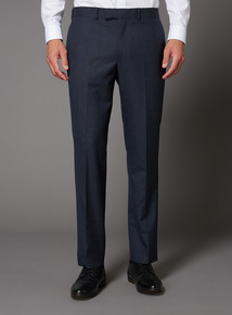 Online Exclusive Blue Dogtooth 100% British Wool Suit Trouser