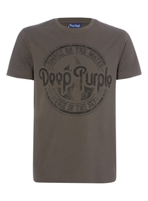 Online Exclusive Black License Deep Purple Tee