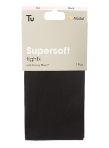 Black Supersoft Modal Tights
