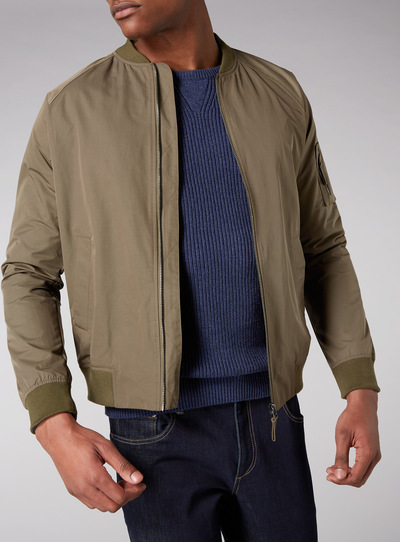 Admiral Light Khaki Baseball Jacket