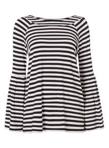 Black Stripe Bardot Top