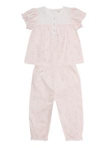 Pink Rabbit Woven Pyjama Set (0 - 24 months)