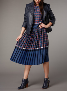 Premium Pleated Print Skirt